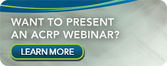 Submit an ACRP Webinar Proposal
