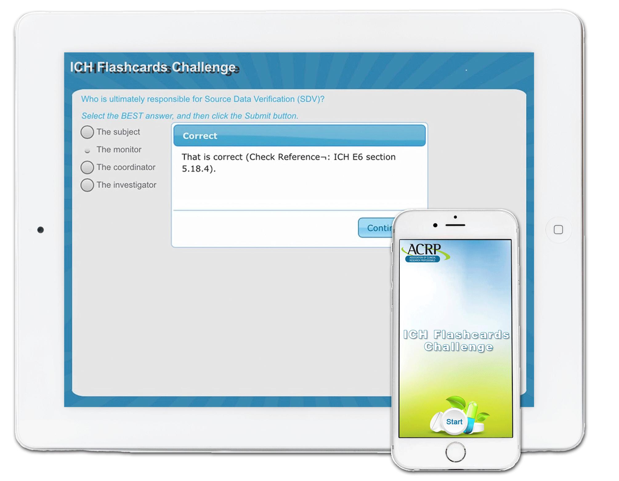 ICH Flashcards Challenge App