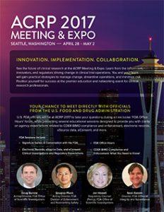 Meeting & Expo 2017, ACRP, Program Brochure Cover