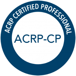 Announcing the acrp certified professional (acrp-cp) program acrp.