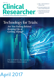 Clinical Researcher April 2017 cover