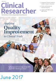 June 2017 Clinical Researcher Cover