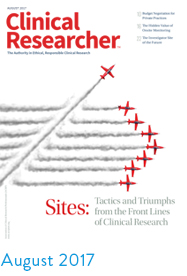 Clinical Researcher August 2017 cover