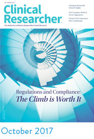 October 2017 Clinical Researcher Cover